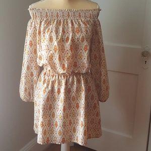 SANCTUARY L/S Off Shoulder Elastic Mini Dress